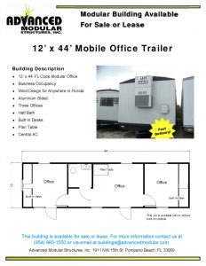 thumbnail of 12 x 44 Office Trailer