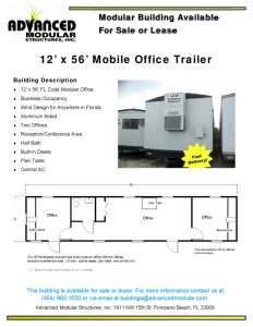 thumbnail of 12 x 56 Office Trailer