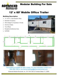 thumbnail of 12 x 60 Office Trailer For Sale Eustis