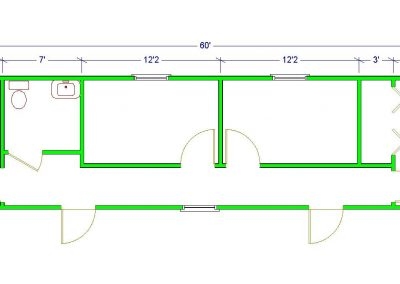 12'x 60' Floor Plan Image