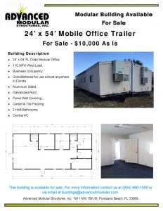 thumbnail of 24 x 54 Office Trailer for Sale – Unit 277 Final