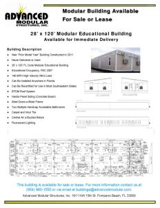thumbnail of 28′ x 120′ Modular Educational Building for Sale or Lease