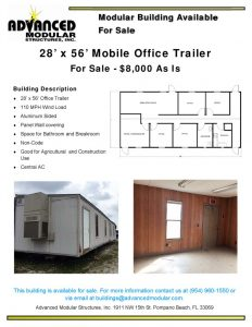 thumbnail of 28 x 56 Office Trailer for Sale – Dirks Final