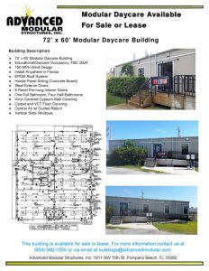 thumbnail of 72 x 60 Daycare Building for Sale or Lease 1779