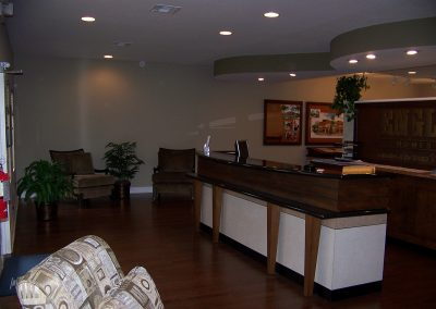 Interior of modular sales office