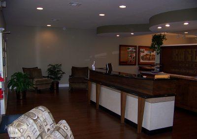 Interior of modular sales office