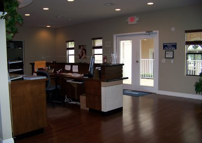 Interior of modular construction office building