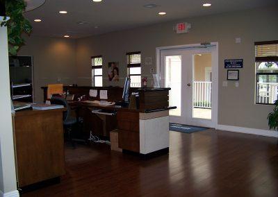 Interior of modular construction office building