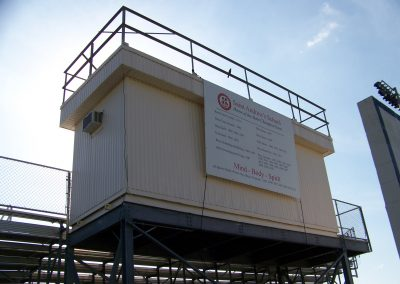 Modular Press Box at St Andrews School in Boca Raton, FL by Advanced Modular Structures