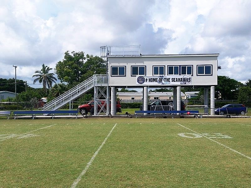 Modular Pressbox with Steps