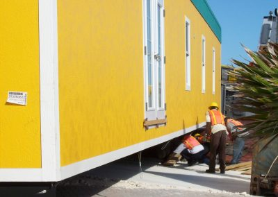 Intallation of Modular Building for Royal Caribbean security checkpoint