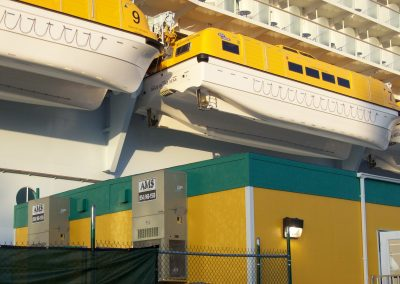 Modular security building for Royal Caribbean Cruise Lines