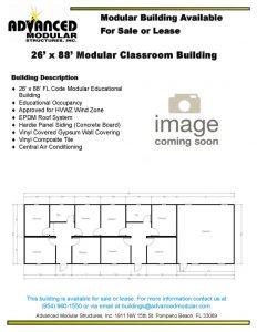 thumbnail of 26 x 88 modular classroom used