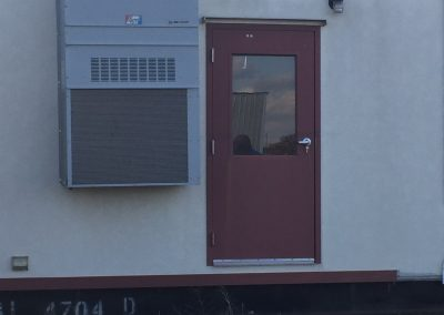 Door and Air Conditioner Modular Classroom