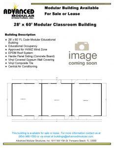 thumbnail of 28 x 60 modular classroom used