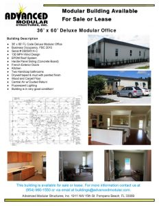 thumbnail of 36 x 60 Modular Office Building for Sale or Lease FINAL