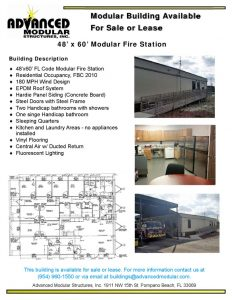 thumbnail of 48 x 60 Modular Fire Station for Sale or Lease