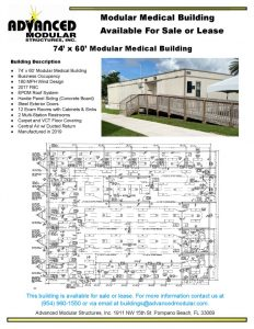 thumbnail of 74 x 60 Modular Medical Building For Sale or Lease