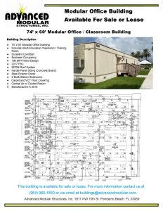 thumbnail of 74 x 60 Modular Office Classroom Building