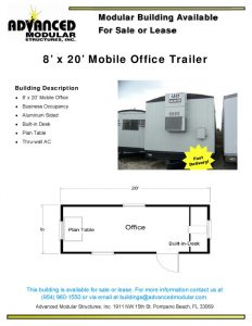 thumbnail of 8 x 20 Office Trailer