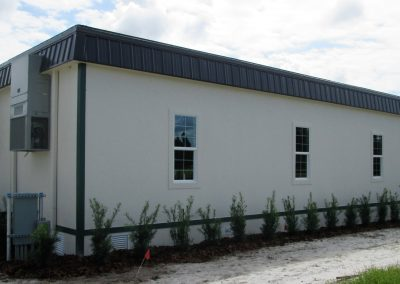Deluxe Modular Office 36' x 60' Side Exterior View
