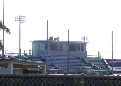 Prefab Press Box for sports field