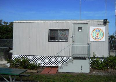Radio operator shack, portable modular office trailer