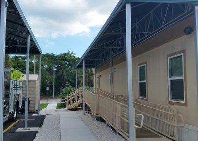 Prefabricated fire station building in Miami, FL