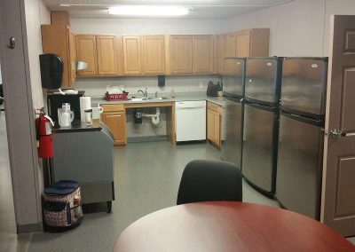 Kitchen and Dining Area in Modular Fire Station