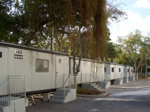 Advanced Modular portable construction office trailers with steps