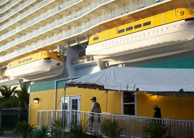 Royal Caribbean Cruise Lines security checkpoint building by Advanced Modular Structures