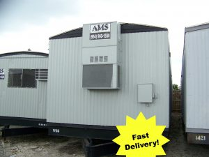 Used construction site office trailer, mobile office trailer, jobsite trailer for sale in Pompano Beach Florida
